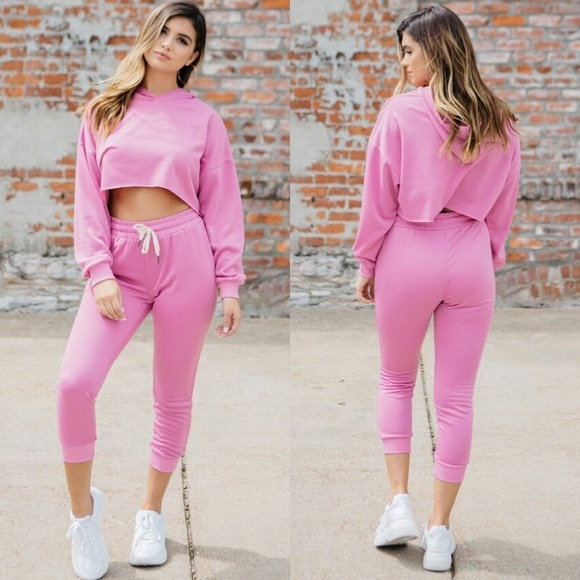 Kittenish Pink Joggers